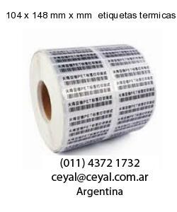 104 x 148 mm x mm  etiquetas termicas top