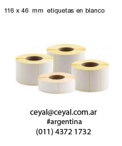 116 x 46  mm  etiquetas en blanco