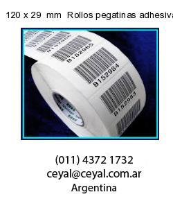 120 x 29  mm  Rollos pegatinas adhesivas