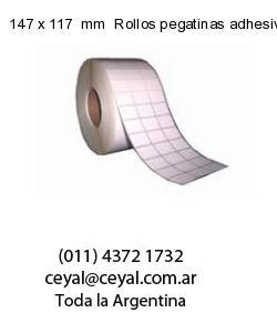 147 x 117  mm  Rollos pegatinas adhesivas