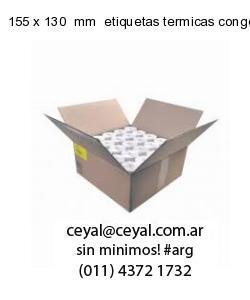 155 x 130  mm  etiquetas termicas congelados