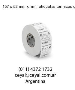 157 x 52 mm x mm  etiquetas termicas congelado