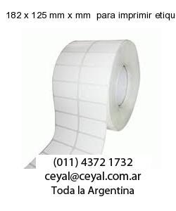 182 x 125 mm x mm  para imprimir etiquetas