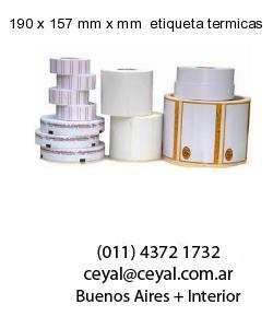 190 x 157 mm x mm  etiqueta termicas