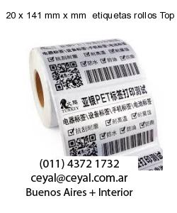 20 x 141 mm x mm  etiquetas rollos Top