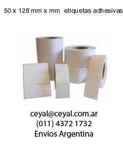 50 x 128 mm x mm  etiquetas adhesivas textiles