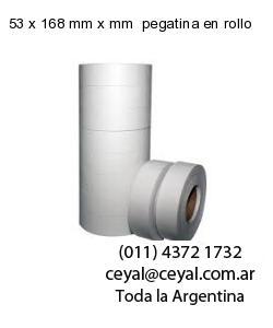 53 x 168 mm x mm  pegatina en rollo