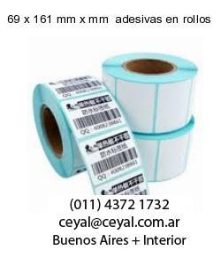 69 x 161 mm x mm  adesivas en rollos