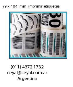 79 x 184  mm  imprimir etiquetas