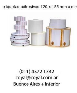 etiquetas adhesivas 120 x 185 mm x mm