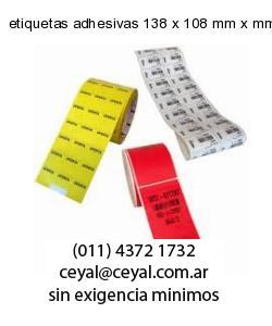 etiquetas adhesivas 138 x 108 mm x mm
