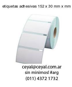 etiquetas adhesivas 152 x 30 mm x mm