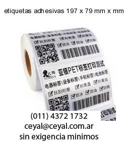 etiquetas adhesivas 197 x 79 mm x mm
