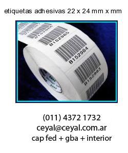 etiquetas adhesivas 22 x 24 mm x mm