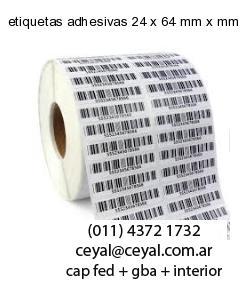 etiquetas adhesivas 24 x 64 mm x mm