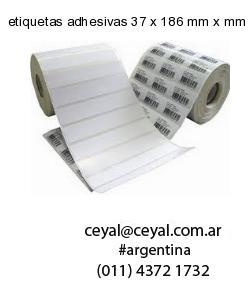 etiquetas adhesivas 37 x 186 mm x mm
