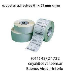 etiquetas adhesivas 61 x 23 mm x mm