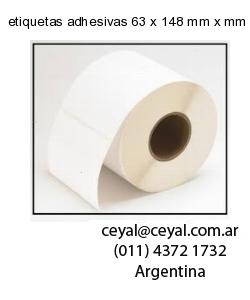 etiquetas adhesivas 63 x 148 mm x mm