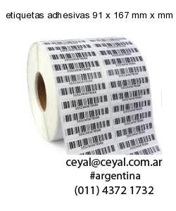 etiquetas adhesivas 91 x 167 mm x mm