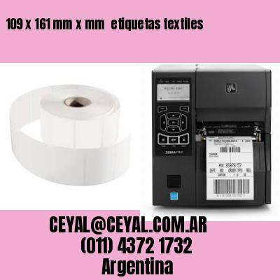 109 x 161 mm x mm  etiquetas textiles