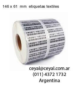 146 x 61  mm  etiquetas textiles
