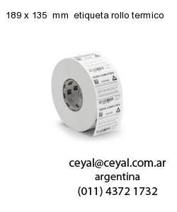 189 x 135  mm  etiqueta rollo termico