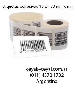 etiquetas adhesivas 33 x 178 mm x mm