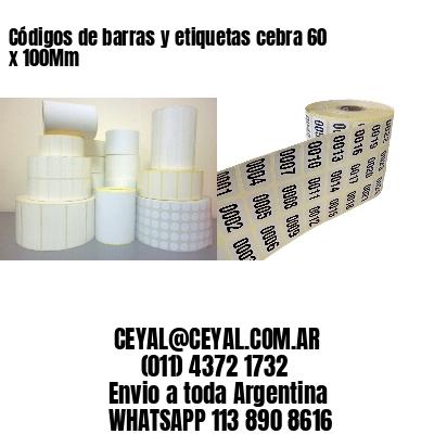 Códigos de barras y etiquetas cebra 60 x 100Mm