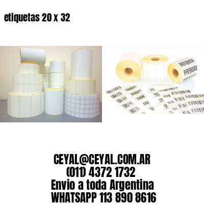 etiquetas 20 x 32