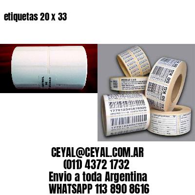 etiquetas 20 x 33