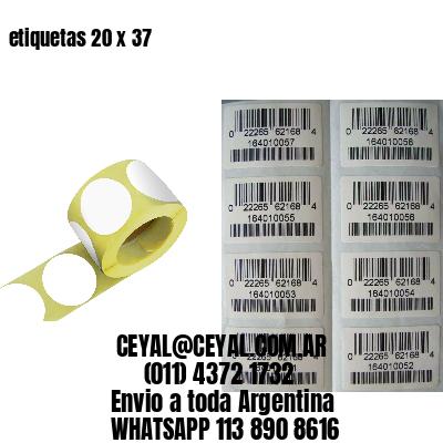 etiquetas 20 x 37