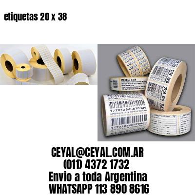 etiquetas 20 x 38