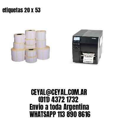 etiquetas 20 x 53