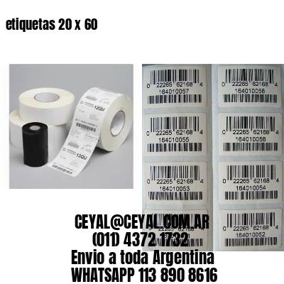 etiquetas 20 x 60