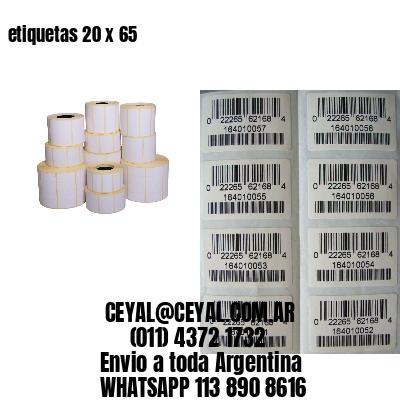 etiquetas 20 x 65