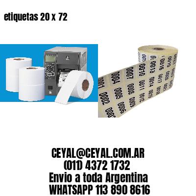 etiquetas 20 x 72
