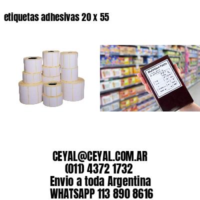 etiquetas adhesivas 20 x 55