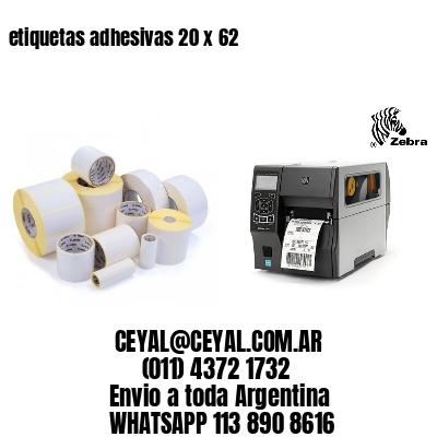 etiquetas adhesivas 20 x 62