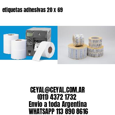 etiquetas adhesivas 20 x 69