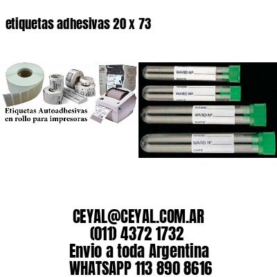 etiquetas adhesivas 20 x 73