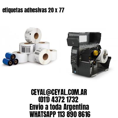 etiquetas adhesivas 20 x 77