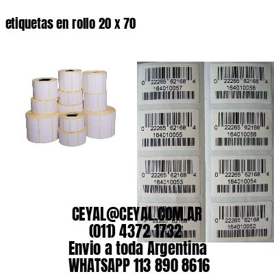 etiquetas en rollo 20 x 70