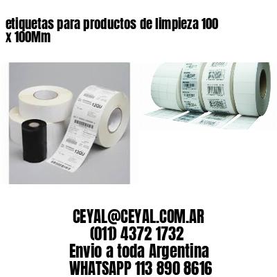 etiquetas para productos de limpieza 100 x 100Mm