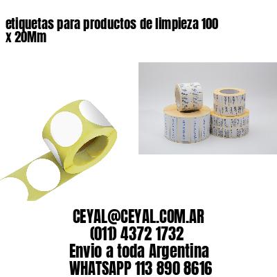 etiquetas para productos de limpieza 100 x 20Mm