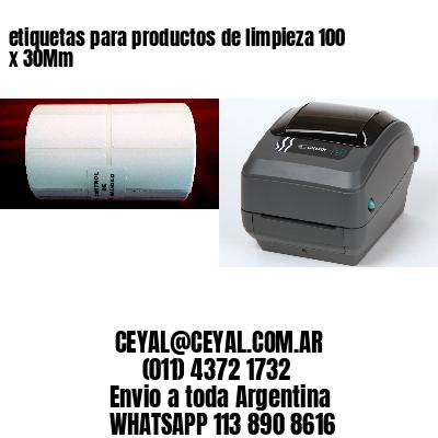 etiquetas para productos de limpieza 100 x 30Mm