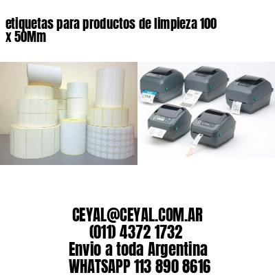 etiquetas para productos de limpieza 100 x 50Mm