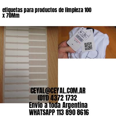 etiquetas para productos de limpieza 100 x 70Mm