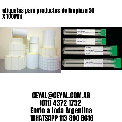 etiquetas para productos de limpieza 20 x 100Mm
