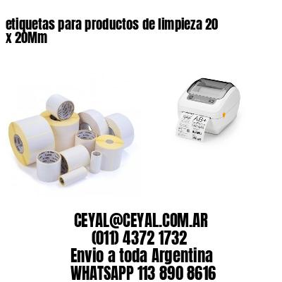 etiquetas para productos de limpieza 20 x 20Mm