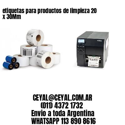 etiquetas para productos de limpieza 20 x 30Mm